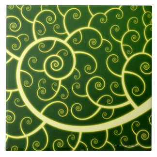 Abstract Spiral Tile