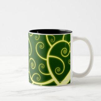 Abstract Spiral Two-Tone Coffee Mug