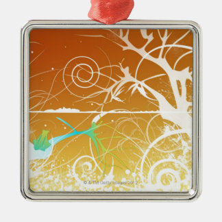 Abstract Spirals and Swirls Christmas Ornament