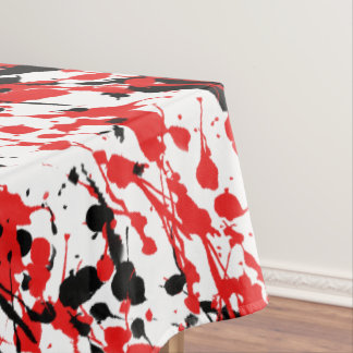 Abstract Splash and Drip Tablecloth