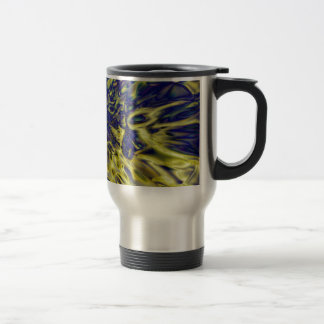Abstract splash background travel mug