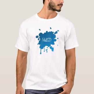 abstract splatter design t-shirt