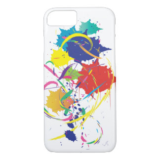 Abstract Splatter Paint Vector Digital Art Cool iPhone 8/7 Case