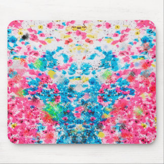 abstract splatter painting mouse pad
