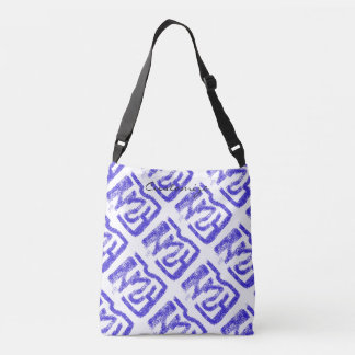 abstract sprayed blue  Thunder_Cove Crossbody Bag