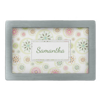 Abstract Spring Flowers Belt Buckles
