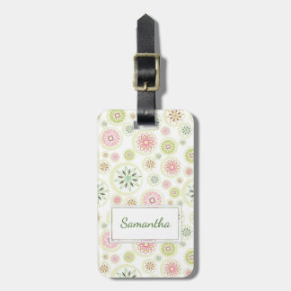 Abstract Spring Flowers Luggage Tag