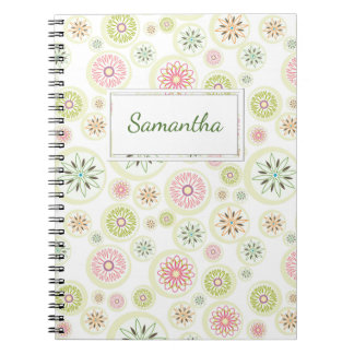 Abstract Spring Flowers Notebooks