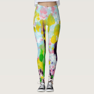 Abstract Spring leggings