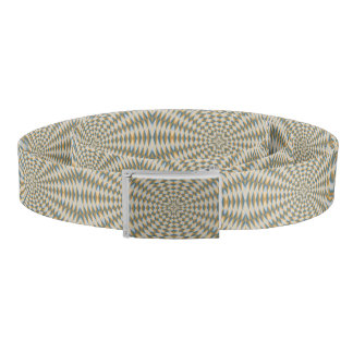 Abstract square and circle pattern belt