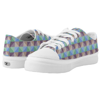 Abstract square and triangle cool unique pattern low tops