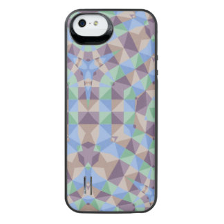 Abstract square and triangle pattern iPhone SE/5/5s battery case