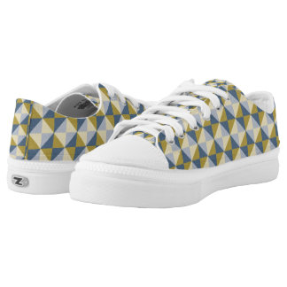 Abstract square and triangle pattern low tops