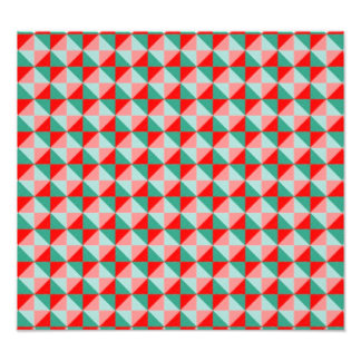 Abstract square and triangle pattern photographic print