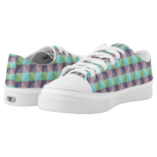 abstract square and triangle unique pattern low tops