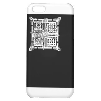 Abstract Square Black & White iPhone 5C Matte Case Case For iPhone 5C