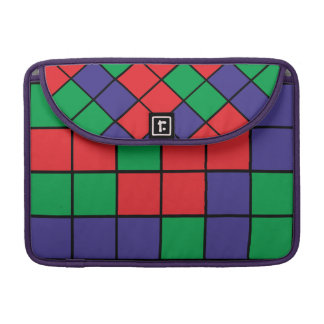 Abstract square design sleeve for MacBooks