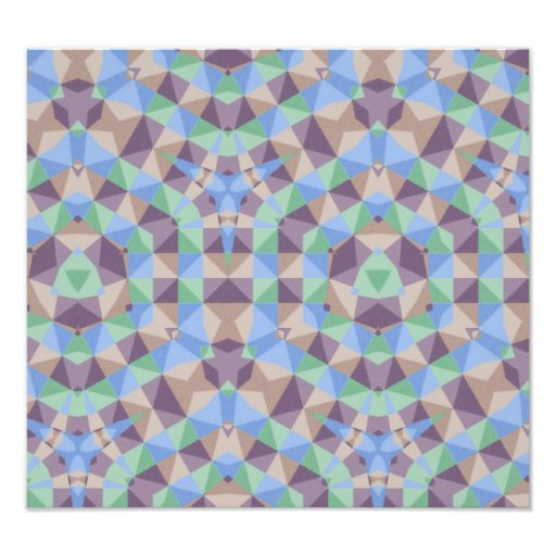 abstract square hexagon triangle pattern photographic print