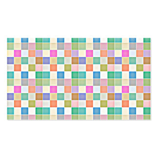 Abstract Square Multicolored Mosaic Business Cards