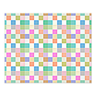 Abstract Square Multicolored Mosaic Personalized Flyer