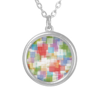 Abstract Square Multicolored Mosaic Custom Necklace