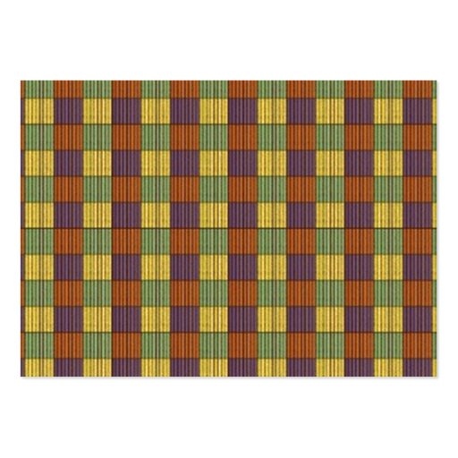 Abstract Square Multicolored Mosaic Pattern Business Card