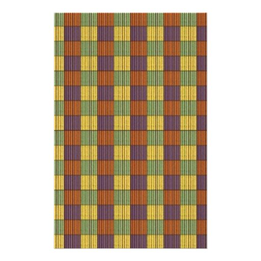 Abstract Square Multicolored Mosaic Pattern Flyers