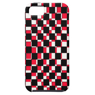 Abstract Square red black and white iPhone 5 Case
