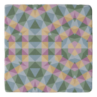 abstract square triangle hexagon pattern trivet