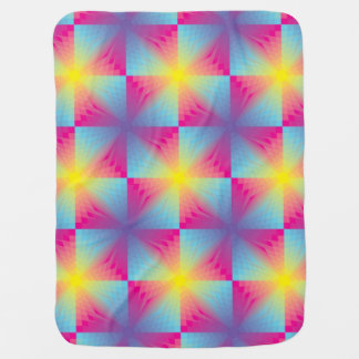 Abstract square vector mosaic baby blanket