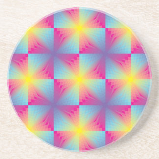 Abstract square vector mosaic coaster