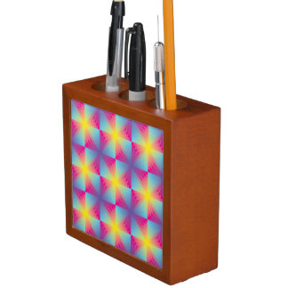 Abstract square vector mosaic desk organiser