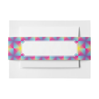 Abstract square vector mosaic invitation belly band