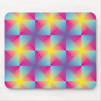 Abstract square vector mosaic mouse pad