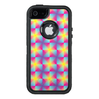 Abstract square vector mosaic OtterBox defender iPhone case