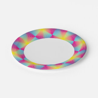 Abstract square vector mosaic paper plate
