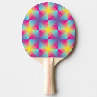 Abstract square vector mosaic ping pong paddle