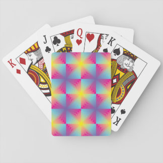 Abstract square vector mosaic poker deck