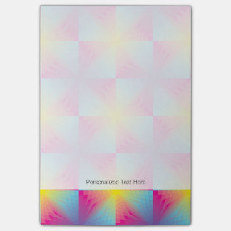 Abstract square vector mosaic post-it notes