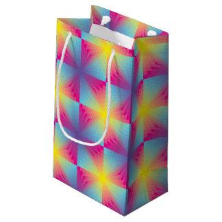 Abstract square vector mosaic small gift bag