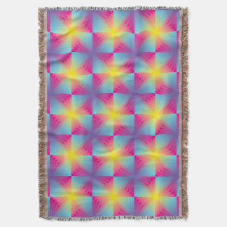 Abstract square vector mosaic throw blanket
