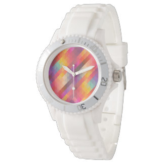 Abstract Square Wrist Watches
