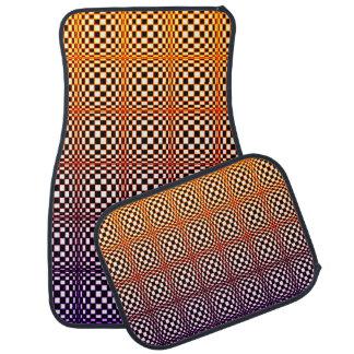 Abstract Squares 10 Car Mat