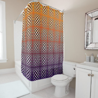 Abstract Squares 10 Shower Curtain