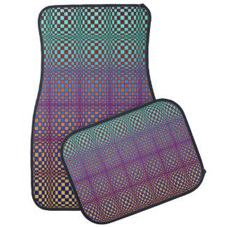 Abstract Squares 3 Car Mat