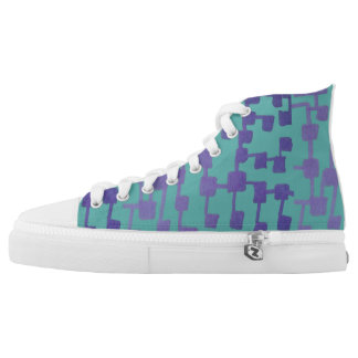 Abstract Squares High Tops