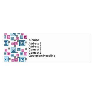 Abstract squares pack of skinny business cards