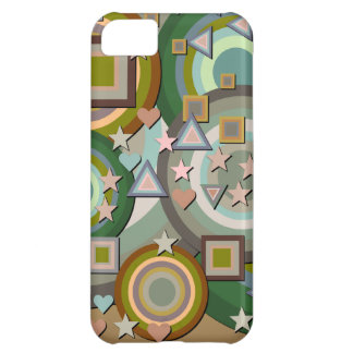 Abstract Squares Triangles Stars Hearts iPhone 5C Case