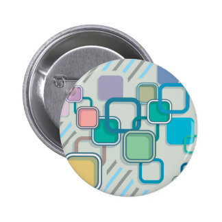Abstract Squares Vector illustration 6 Cm Round Badge