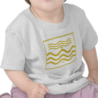 Abstract Squiggly Lines Tee Shirts